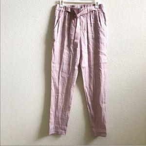 Vince Belted linen pants